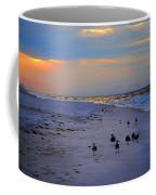 August Beach Morning With The Sea Gulls Coffee Mug