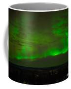 Aurora Flare With Clouds Coffee Mug