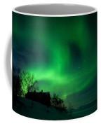Aurora Over Lake Tornetrask Coffee Mug