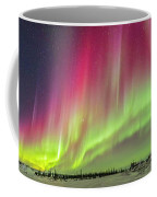 Aurora Panorama Over Northern Studies Coffee Mug