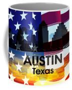 Austin Tx Patriotic Large Cityscape Coffee Mug