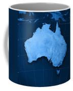Australia Topographic Map Coffee Mug by Frank Ramspott
