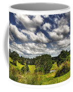 Australian Countryside - Floating Clouds Collage Coffee Mug by Kaye Menner