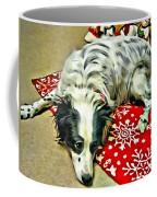 Australian Shepherd Happy Holidays Coffee Mug