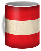 Austria Flag Vintage Distressed Finish Coffee Mug