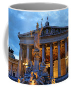 Austrian Parliament Building Coffee Mug by Mariola Bitner