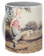 Authentic Faded Brown Vintage Skater Child Coffee Mug