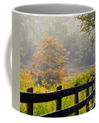Autumn Along The Fence Coffee Mug