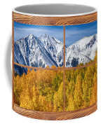 Autumn Aspen Tree Forest Barn Wood Picture Window Frame View Coffee Mug by James BO  Insogna
