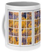 Autumn Aspen Trees White Picture Window View Coffee Mug