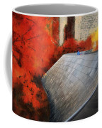 Autumn At Chicago Millennium Park Bp Bridge Mixed Media 03 Coffee Mug