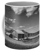 Autumn Barn Monochrome Coffee Mug
