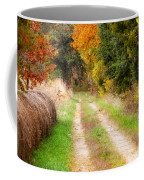 Autumn Beauty On Rural Dirt Road Coffee Mug
