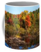 Autumn Beaver Pond Reflections Coffee Mug