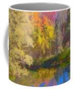 Autumn Beside The Pond Coffee Mug