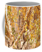 Autumn Birch Leaves Coffee Mug