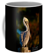Autumn Brown Pelican Coffee Mug