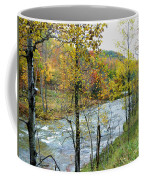 Autumn By The River Coffee Mug