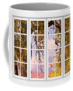 Autumn Cottonwood Tree Longs Peak White Window View Coffee Mug
