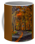 Autumn Drive Freedom And Beauty Coffee Mug