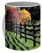 Autumn Fence And Shadows Coffee Mug