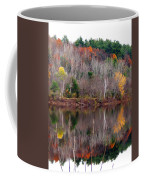 Autumn Foliage River Reflection Coffee Mug