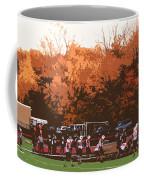 Autumn Football With Cutout Effect Coffee Mug