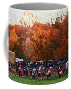 Autumn Football With Sponge Painting Effect Coffee Mug