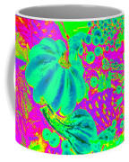 Autumn Harvest In Green And Purple - Pop Art Coffee Mug