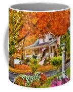 Autumn - House - The Beauty Of Autumn Coffee Mug by Mike Savad