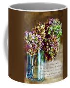 Autumn Hydrangeas Photoart With Verse Coffee Mug