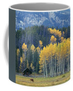 1m9359-autumn In Jackson Hole Ranch Country Coffee Mug