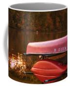 Autumn Kayaks On Newport Lake Coffee Mug