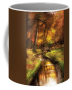 Autumn - Landscape - By A Little Bridge  Coffee Mug by Mike Savad