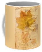 Autumn Leaf In Grunge Style Coffee Mug