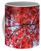 Autumn Leaves And Blue Sky Coffee Mug