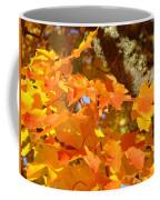 Autumn Leaves Art Print Yellow Orange Coffee Mug