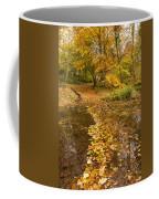 Autumn Leaves In Burn Vertical Coffee Mug