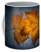 Autumn Leaves On Blue Coffee Mug