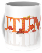 Autumn Letters With Leaves Coffee Mug