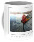 Autumn On Misty Lake Poster Coffee Mug
