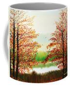 Autumn On The Ema River Estonia Coffee Mug