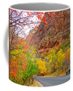 Autumn On Zion Canyon Scenic Drive In Zion National Park-utah  Coffee Mug