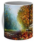 Autumn Park - Palette Knife Oil Painting On Canvas By Leonid Afremov Coffee Mug