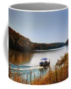 Autumn Pontoon Boating Argyle Lake Coffee Mug