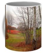 Autumn Red Field Maine  Coffee Mug