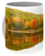 Autumn Reflection Panoramic View Coffee Mug