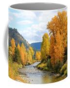 Autumn River In Montana Coffee Mug