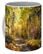 Autumn Road - Tipton Canyon - Casper Mountain - Casper Wyoming Coffee Mug