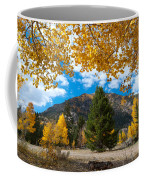 Autumn Scene Framed By Aspen Coffee Mug by Cascade Colors